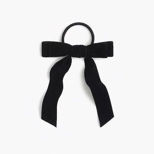 JCREW velvet hair bow